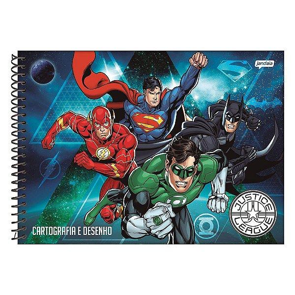 Caderno Cartografia e Desenho Liga da Justiça - Azul - Jandaia