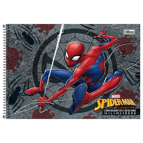 Caderno de Cartografia e Desenho Milimetrado - Spider Man - Tilibra