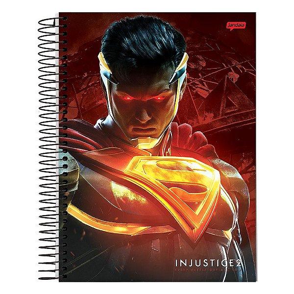 Caderno Injustice 2 - Superman - 10 Matérias - Jandaia