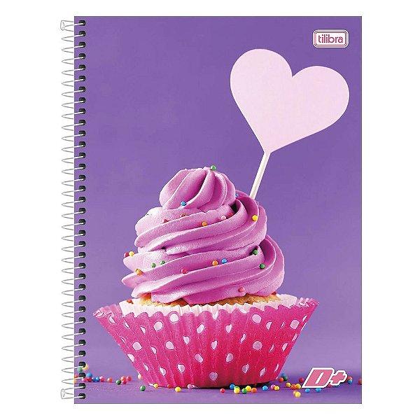 Caderno D+ - Cupcake - 1 Matéria - Tilibra
