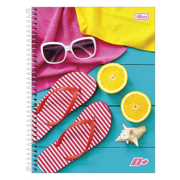Caderno D+ - Summer - 1 Matéria - Tilibra
