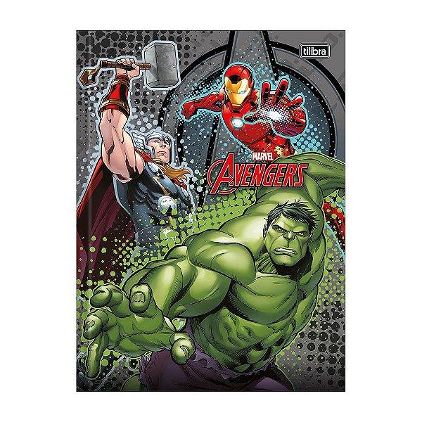 Caderno 1/4 Brochura Avengers - Cinza - 96 Folhas - Tilibra