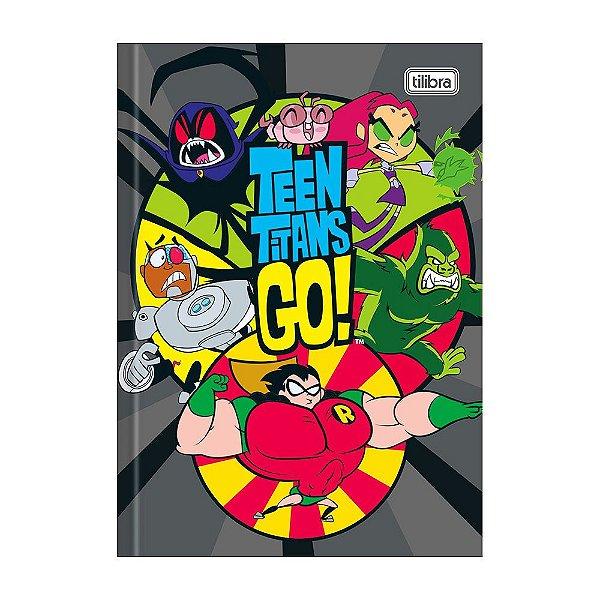 Caderno 1/4 Brochura Teen Titans Go! - Cinza - 80 Folhas - Tilibra