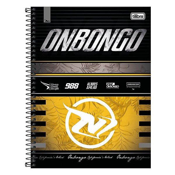 Caderno Onbongo - Amarelo - 160 Folhas - Tilibra