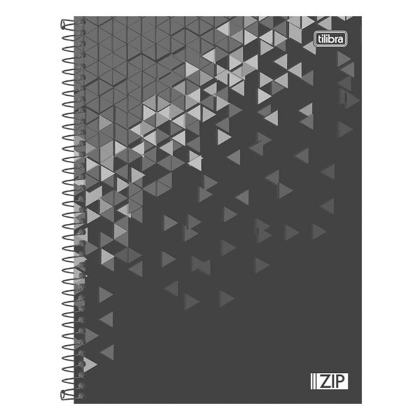 Caderno Zip - Preto - 16 Matérias - Tilibra