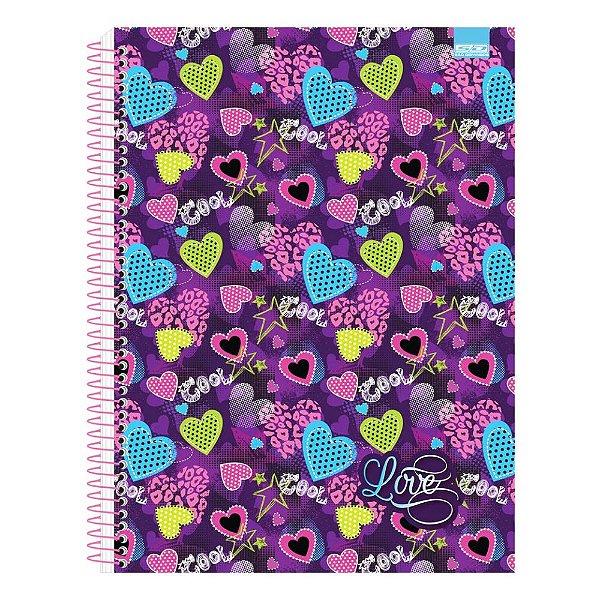 Caderno Love - Corações - 1 Matéria - São Domingos