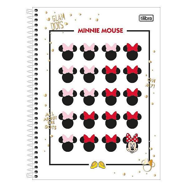 Caderno Minnie Mouse - Rostinhos - 10 Matérias - Tilibra