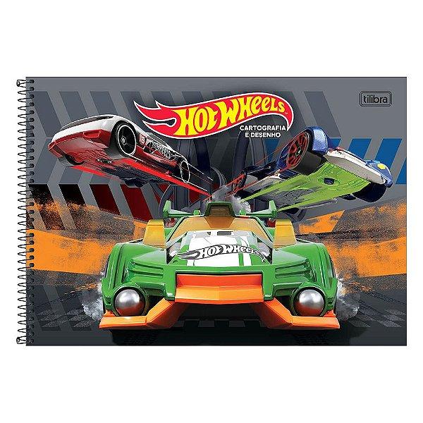 Caderno de Cartografia e Desenho Hotwheels - Cinza - Tilibra