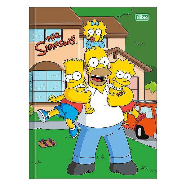 Caderno Brochura The Simpsons - Homer e Filhos - 48 Folhas - Tilibra