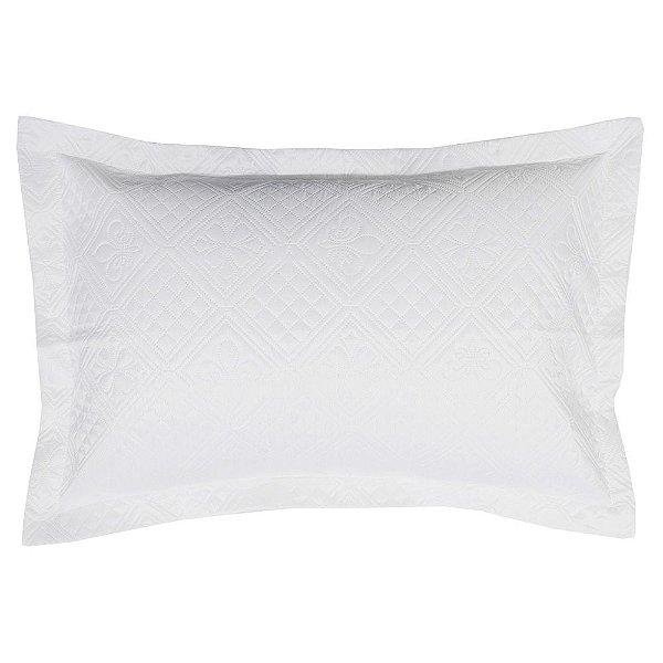 Porta Travesseiro Fashion In Fiori - Branco - Hedrons