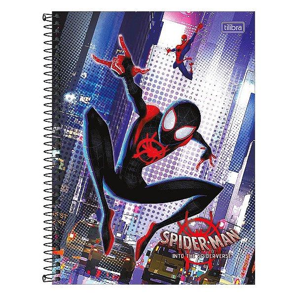 Caderno Spider Man Into The Spider-Verse - Salto - 80 folhas - Tilibra