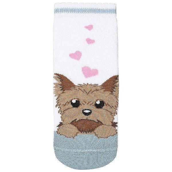 Meia Infantil Feminina Pets - Yorkshire - Lupo