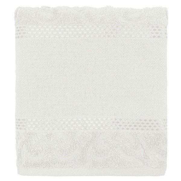 Toalha de Rosto Para Bordar Melina - Branco - Karsten
