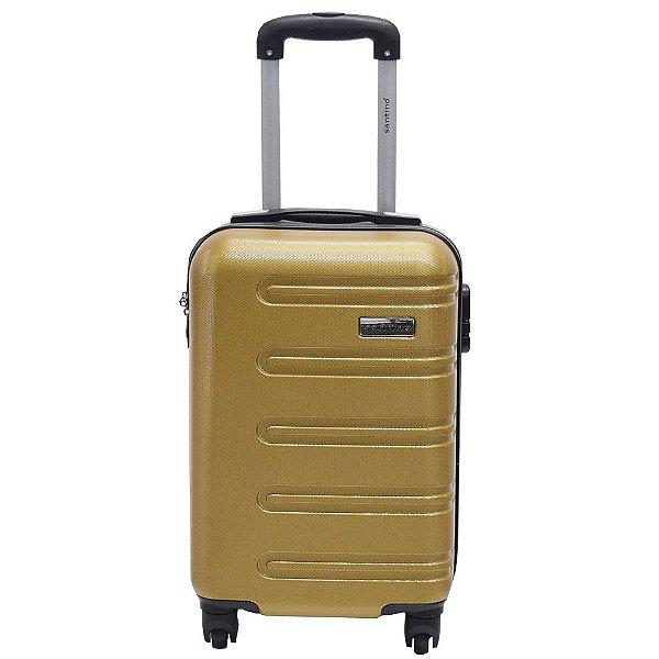 Mala de Viagem Aracaju em ABS Pequena - Ouro - Santino