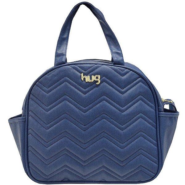 Bolsa de Maternidade Chevron G - Azul - Hug