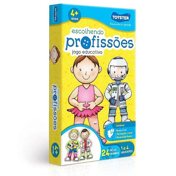Jogo Educativo Escolhendo Profissões - 24 Peças - Toyster