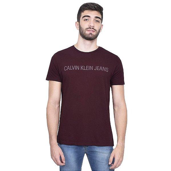 Camiseta Masculina Useful Marsala - Calvin Klein