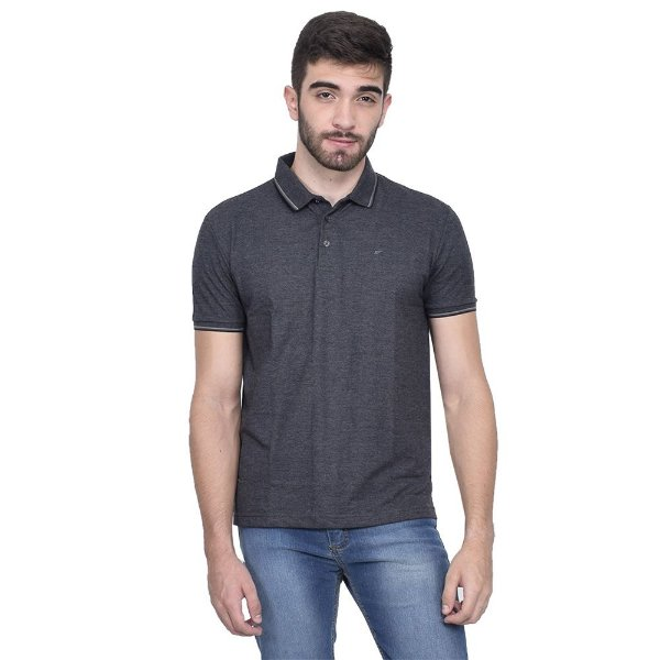 Camisa Polo Básica - Cinza Chumbo - Ellus