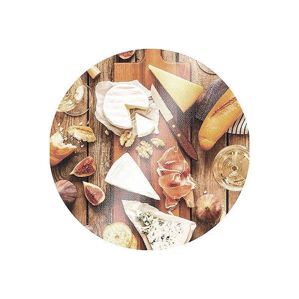 Tábua de Corte Para Queijo Redonda 25cm - Mesa - Euro