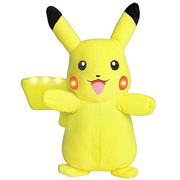 Pelúcia Pikachu Power Action Com Luz & Som - DTC