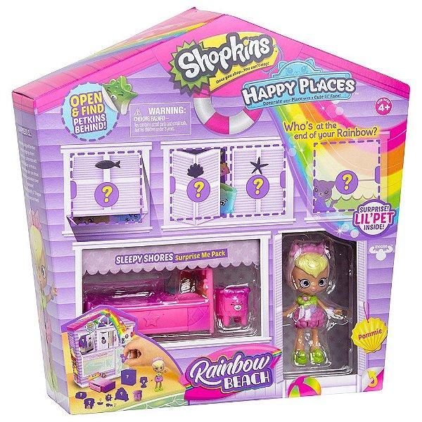 Shopkins Happy Places Rainbow Beach - Casinha Surpresa - DTC
