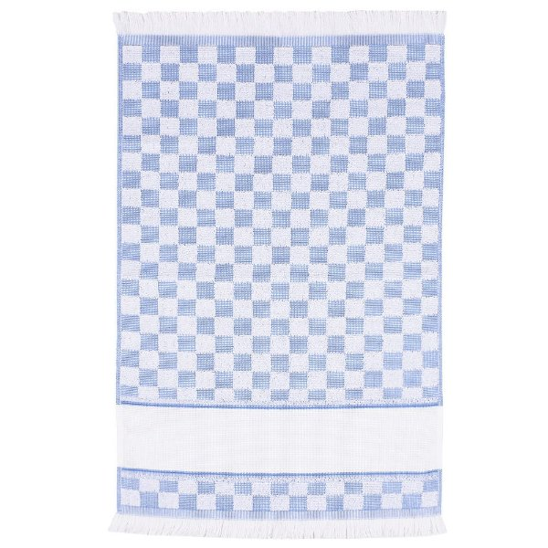Pano de Copa Verona Xadrez Para Bordar - Azul - Döhler