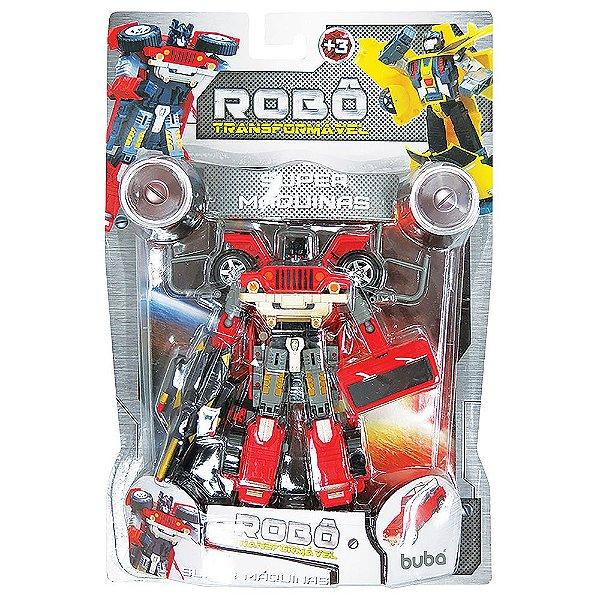 Robô Transformável Super Máquinas - Vermelho - Buba