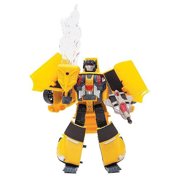 Robô Transformável Super Máquinas - Amarelo - Buba