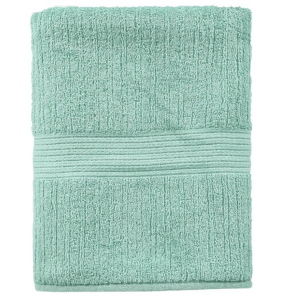 Toalha de Banho Gigante Canelada Fio Penteado - Azul Tiffany 1966 - Buddemeyer
