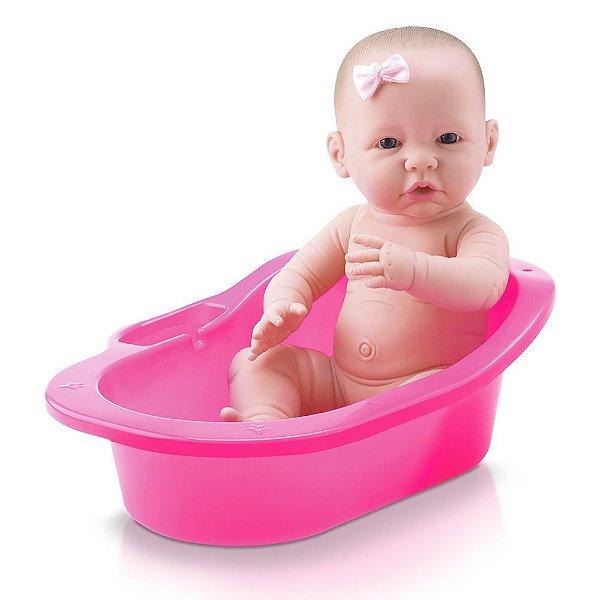 Boneca Diver Newborn Banho de Carinho - Menina - Divertoys
