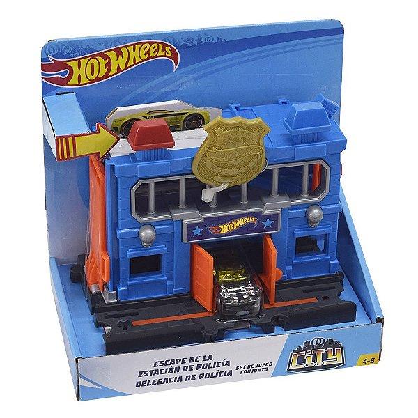 Conjunto Hot Wheels City - Delegacia de Polícia + Veículo - Mattel