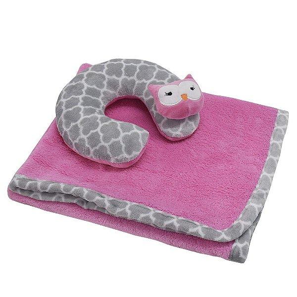 Manta Para Bebê Com Almofada de Pescoço - Encanto - Corttex