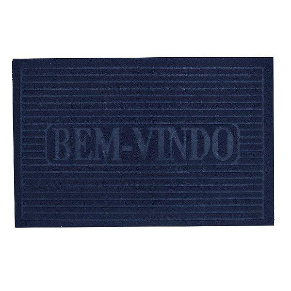 Capacho Bem-Vindo - 38 x 58 cm - Marinho - Camesa
