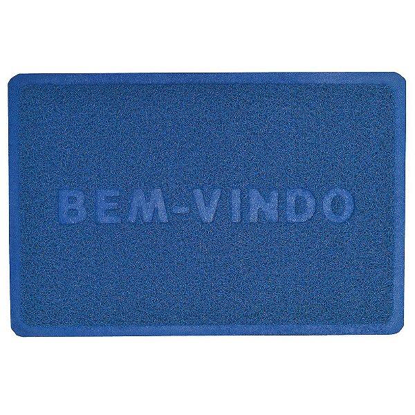 Capacho Bem-Vindo 40cm x 60cm - Azul - Camesa