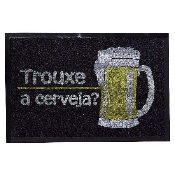 Capacho Dizeres 40cm x 60cm - Trouxe a Cerveja? - Camesa