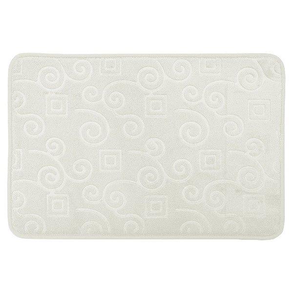 Tapete Para Banheiro Foam - Branco II - Realce Premium