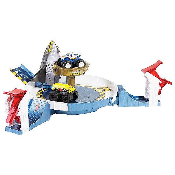 Hot Wheels Monster Trucks - Batalha do Tubarão Mecha - Mattel