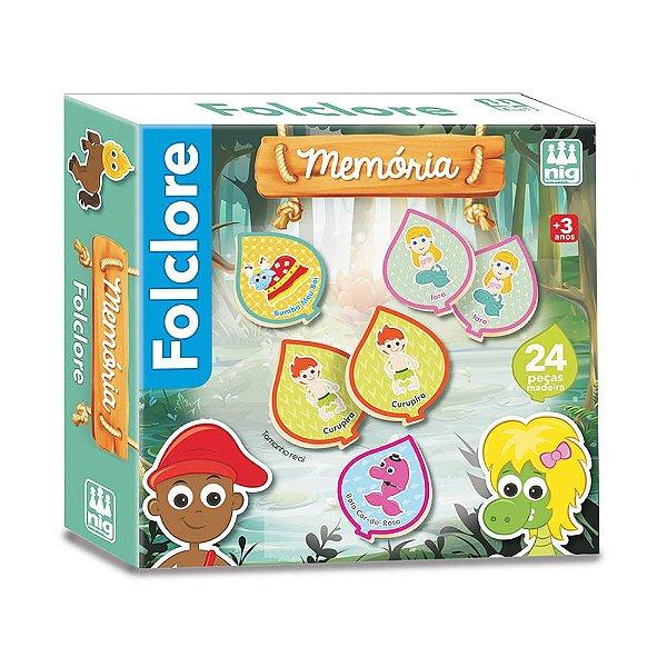 Jogo Da Memória Folclore - 24 peças - Nig Brinquedos