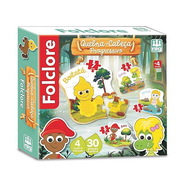 Quebra Cabeça Folclore Progressivo - 30 peças - Nig Brinquedos