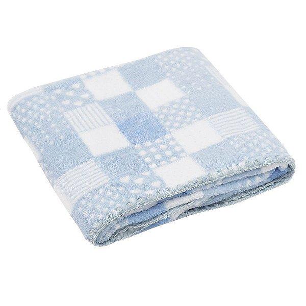Cobertor Baby Microfibra 200g/m²- Azul - Camesa