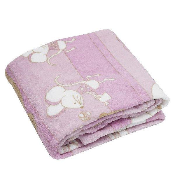 Cobertor Baby Estampado 200g/m² - Pelúcia - Camesa