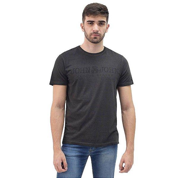 Camiseta Masculina Regular Fit Basic Estonada - Chumbo - John John