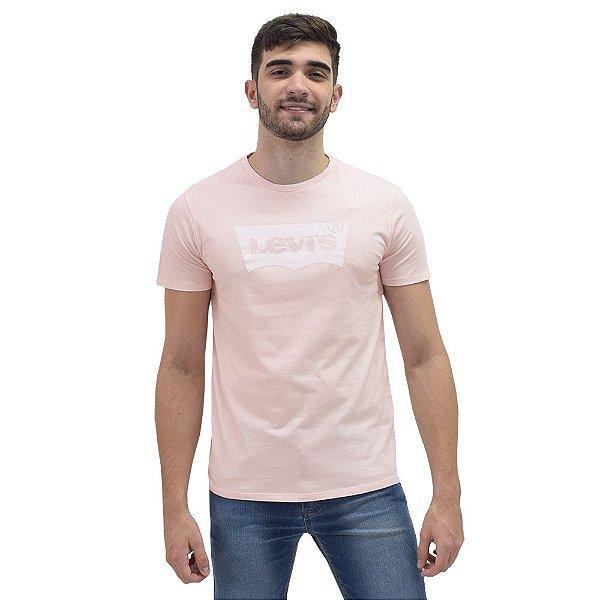 Camiseta Masculina Originals Logo - Rosa Bebê - Levis