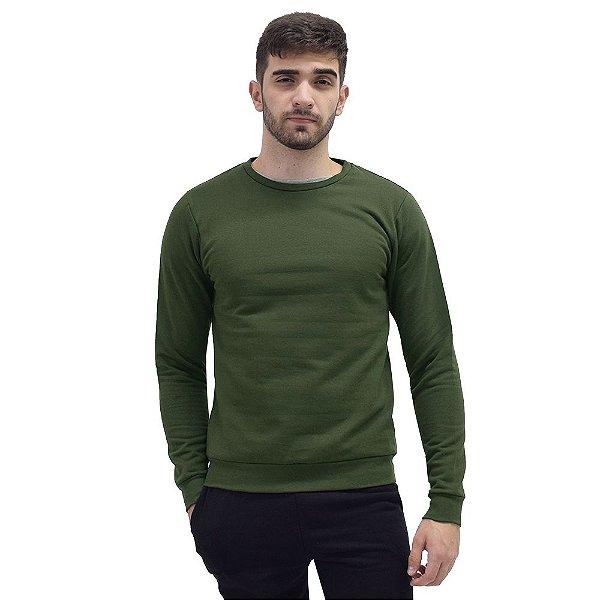 Blusa Moletom Fechado Masculino - Verde Militar - World Xtreme