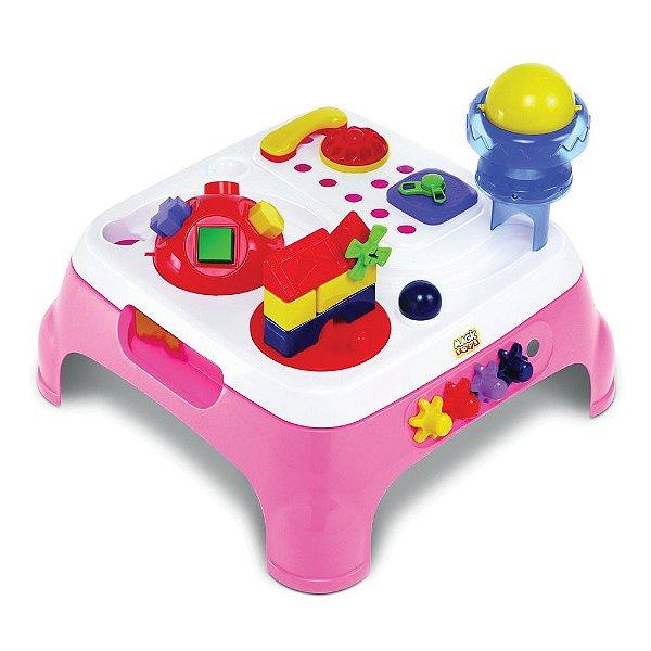 Mesa Max Atividades com Som e Luzes - Rosa - Megic Toys