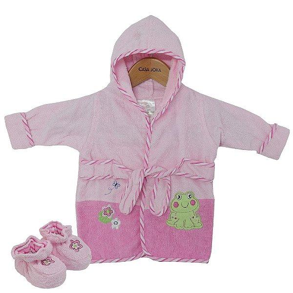 Roupão Baby Com Pantufas - Sapinho - Camesa