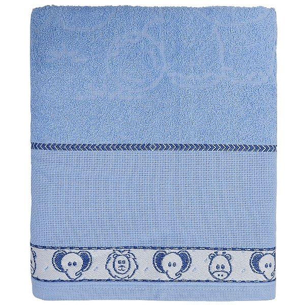 Toalha de Banho Baby Dreams para Bordar - Azul/Elefantinho -  Döhler