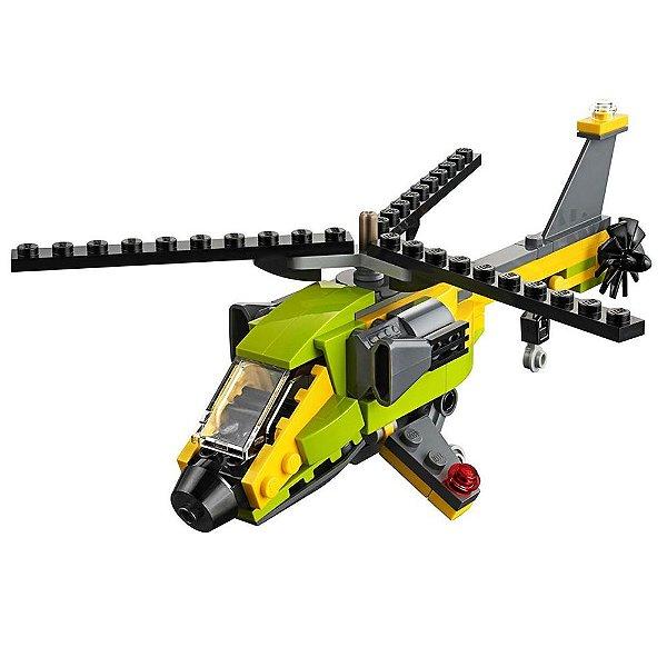 Lego Creator 3 em 1 - Aventuras no Helicóptero - 114 peças - Lego