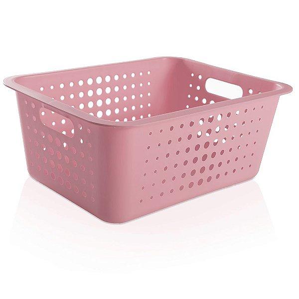 Caixa Organizadora Grande - Rosa - Ou