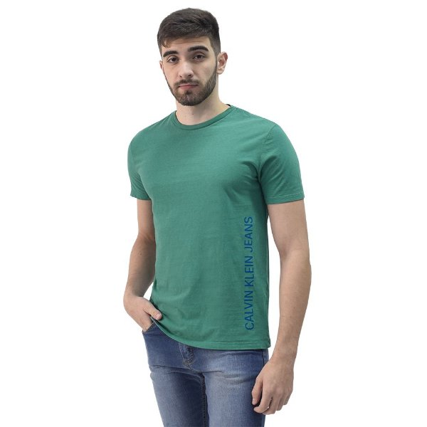 Camiseta Masculina Básica - Verde - Calvin Klein